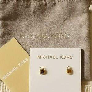 Michael Kors Gold Lock earrings